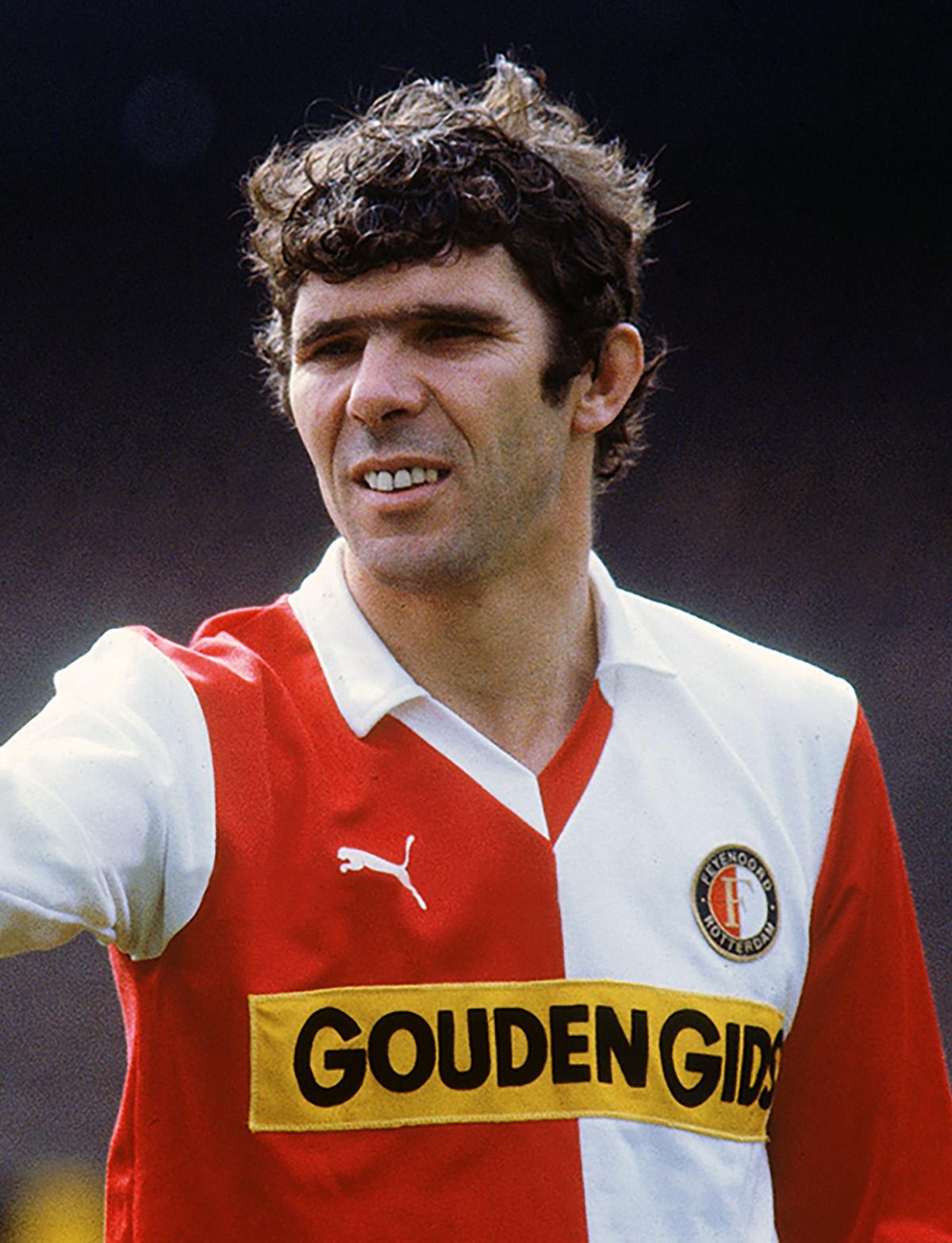 Willem van Hanegem bij Feyenoord in het PUMA shirt