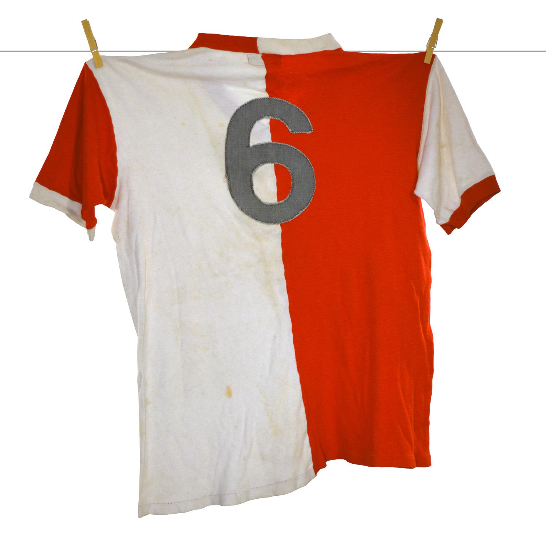 1969 - 1970, Matchworn Bukta Feyenoord Shirt, Frans Hasil, Europacup 1