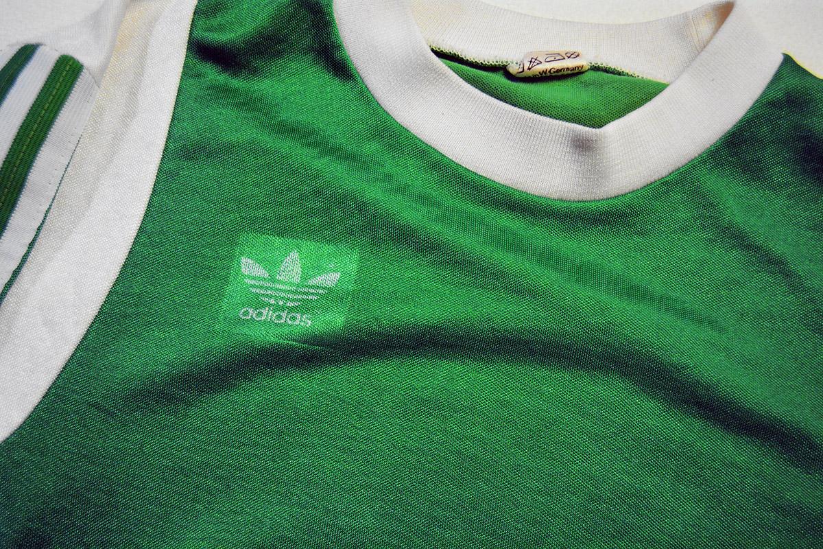 1977 - 1978 Adidas Erima Feyenoord uitshirt, Groen, Nr. 3 (3)