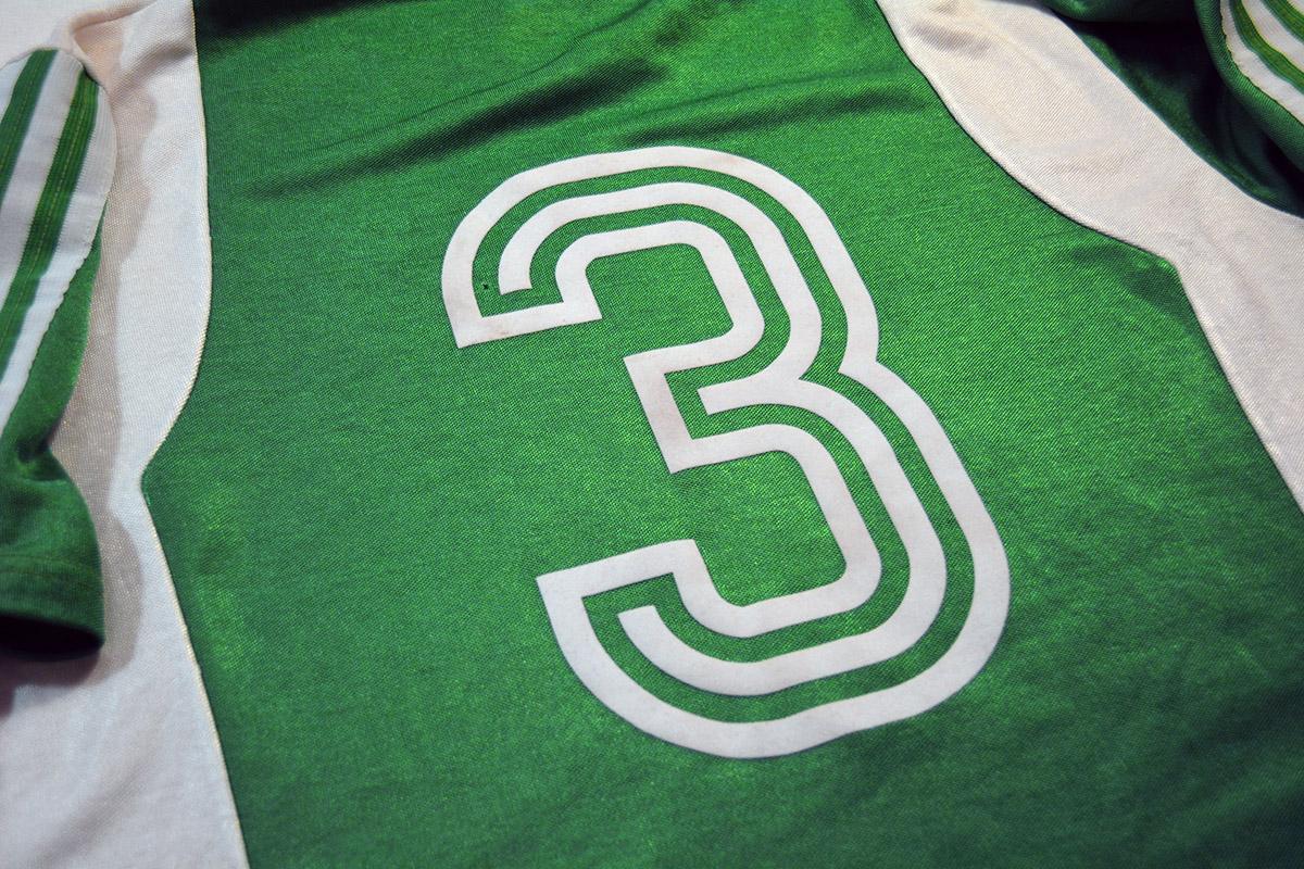 1977 - 1978 Adidas Erima Feyenoord uitshirt, Groen, Nr. 3 (6)