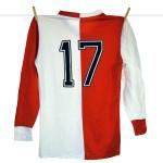 1980 - 1981, Adidas Erima Feyenoord Thuisshirt, Nr. 17