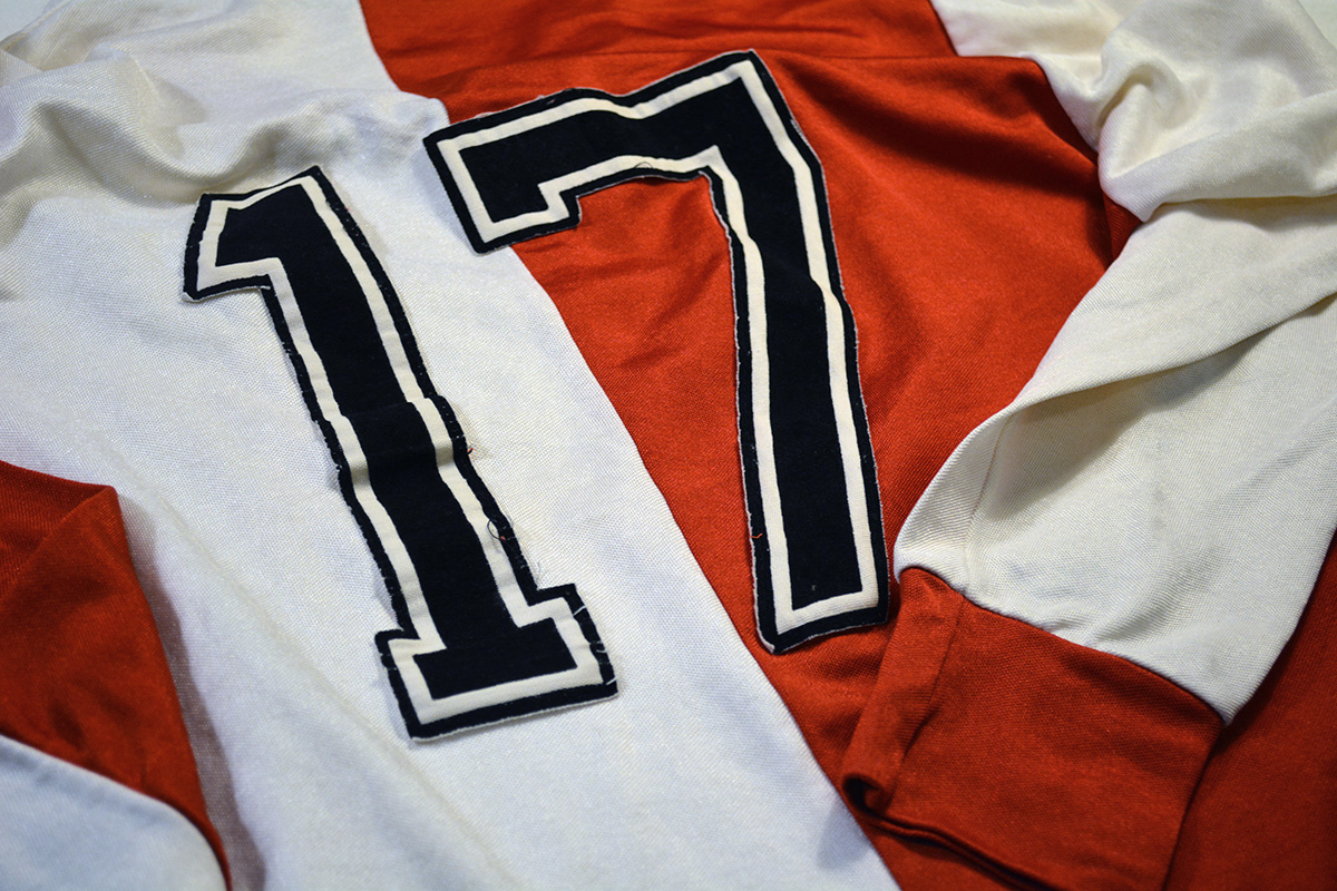 1980 - 1981, Adidas Erima Feyenoord Thuisshirt, Nr. 17 (9)