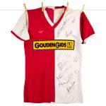 1982 - 1983, Feyenoord matchworn Gouden Gids thuisshirt, matchworn door Michel Valke