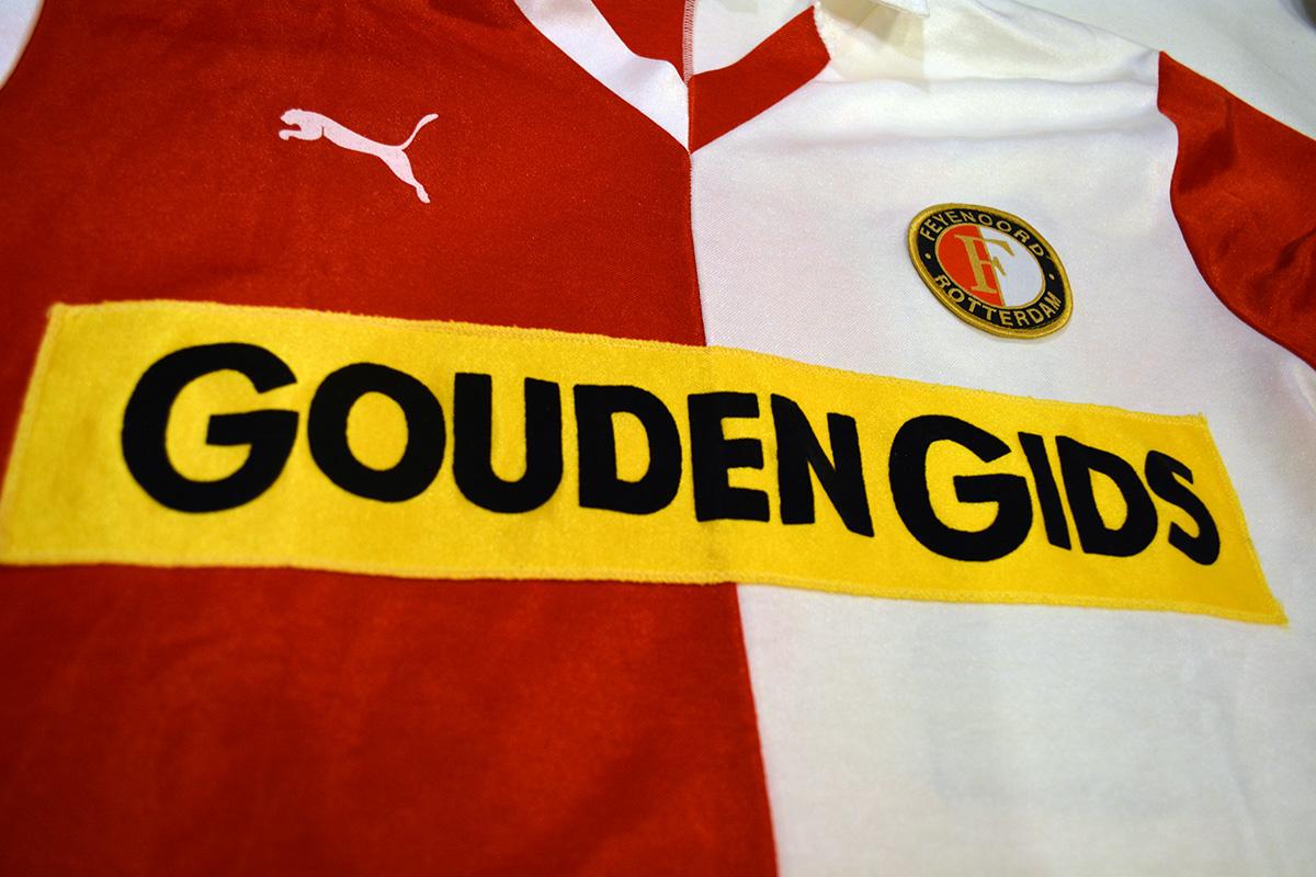 1983 - 1984, PUMA Feyenoord Thuisshirt, Sponsor Gouden Gids (3)