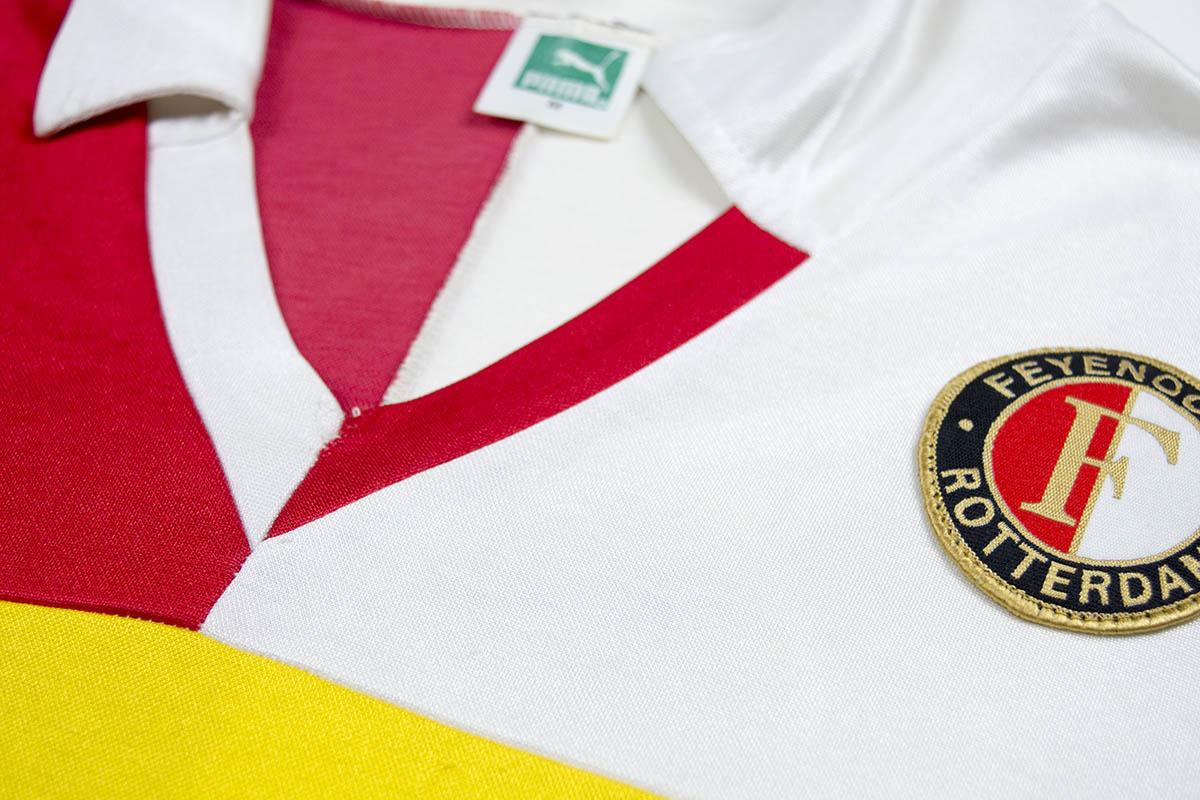 1985 - 1986, Matchworn PUMA Opel Feyenoord thuisshirt, Nr 3