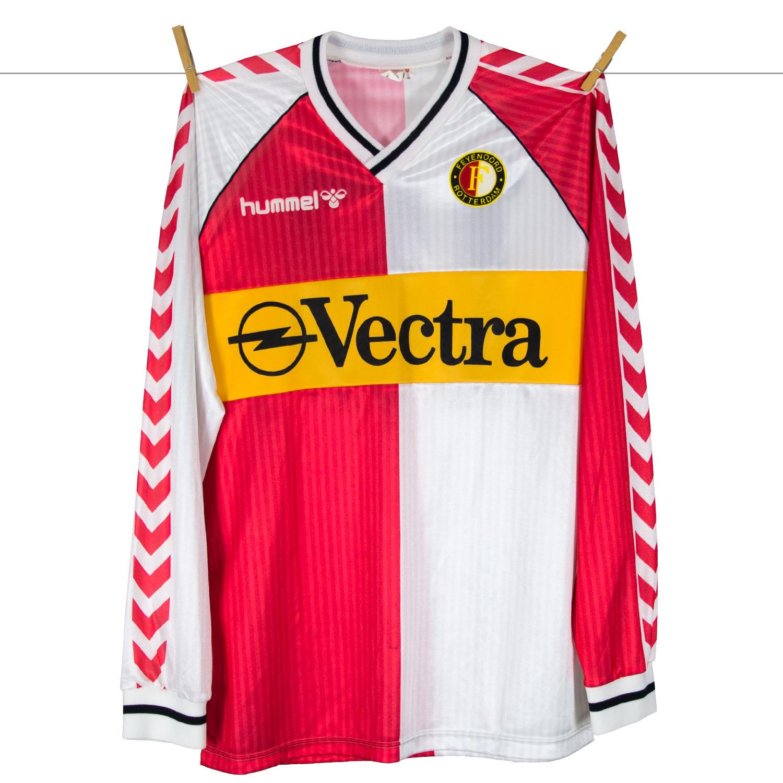 1988 - 1989 - Feyenoord Matchworn OPEL Vectra shirt made by Hummel in England