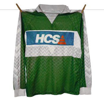 1989 - 1990 - Nr1 - Joop Hiele-HCS (patchover Opel) Feyenoord Europacup Hummel Keepersshirt