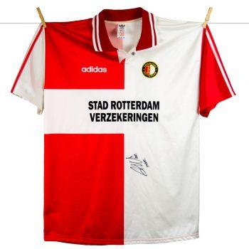 1995 - 1996, thuis, Europacupshirt met kleine sponsoring matchworn Rob Maas