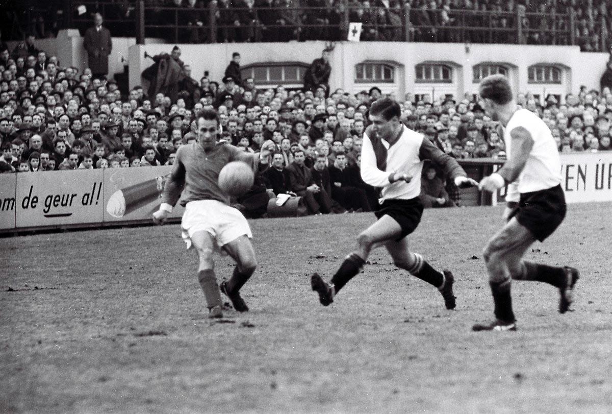 Feyenoord - Sparta 21 januari 1962, 1-3