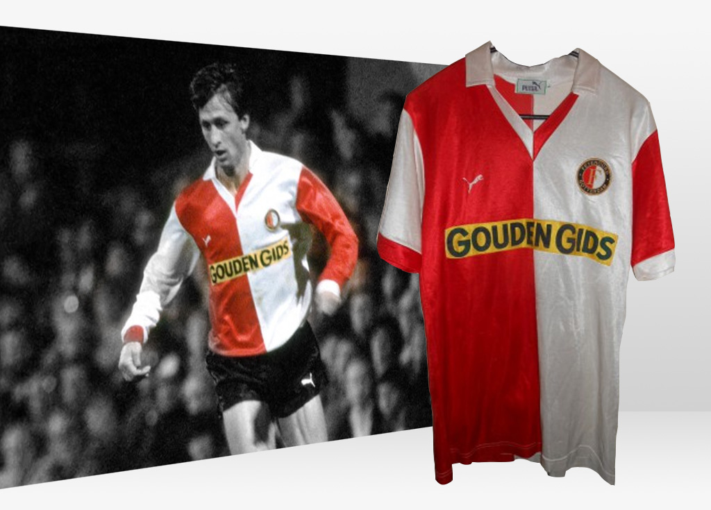 Wanted: Feyenoord matchworn Europacup 1983 - 1984 home jersey