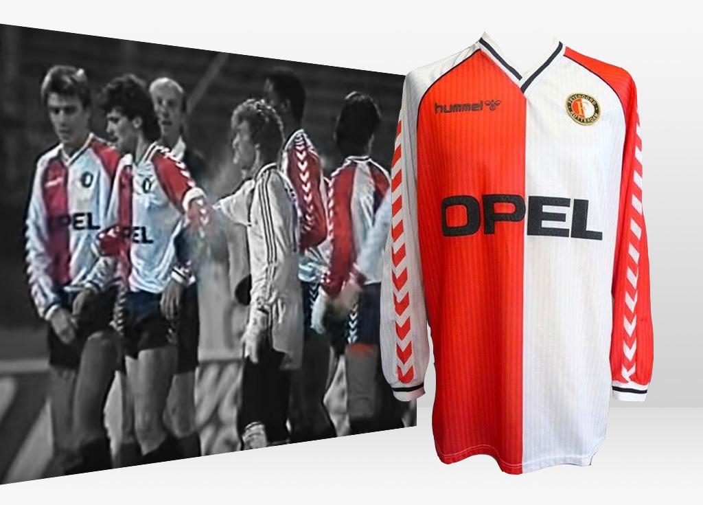 Gesucht: Alt Feyenoord Trikot, 1987 - 1988, getragen teigen Bayern 04 Leverkussen, Gezocht: Feyenoord 1987 - 1988 wedstrijdshirt
