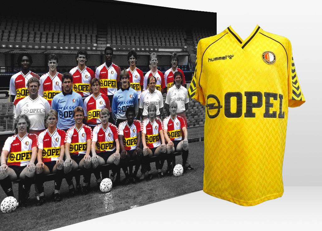 GEZOCHT: Feyenoord thuis en uitshirt, 1978 - 1988