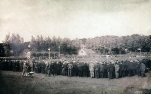 Feyenoord speelt aan de Kromme Zandweg in het jaar 1917
